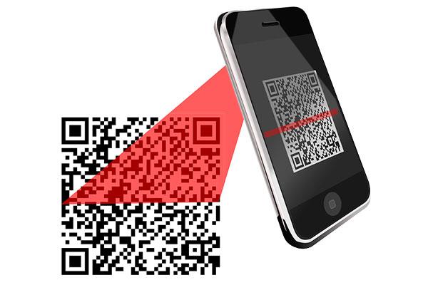 スマートフォンでQRコードを読み取る